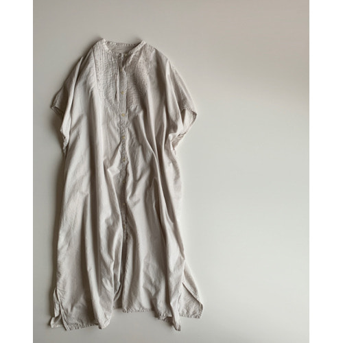 Gauze khadi cotton pintuck wide op(smoke gray)