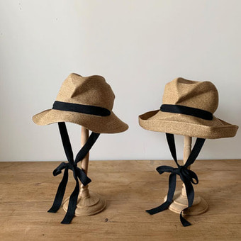 mature ha. boxd hat brim garden ribbon(7cm, 11cm)black 재입고!