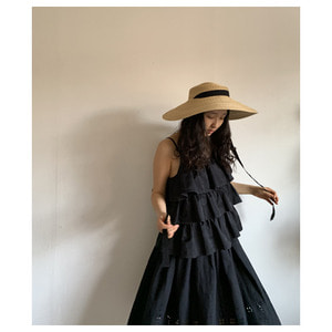mature ha. straw hat wide Natural