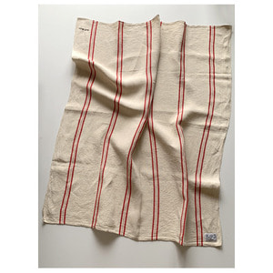 R&D.M.Co- freddy linen cloth red line(119 X 139cm)