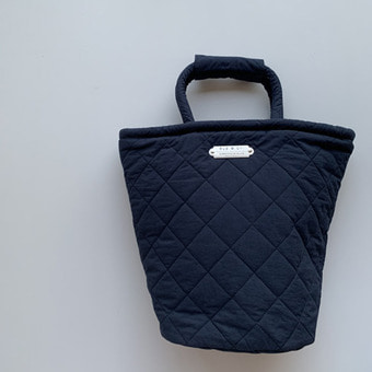 R&D.M.Co-  quilting marche bag(tall) navy