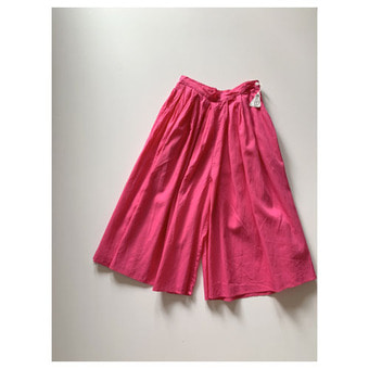 R&D.M.Co- cotton organdy wide pants(fuchsia pink) (30%)