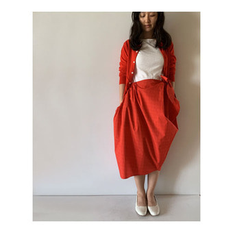 R&D.M.Co- T/C tie skirt(red)(30%)