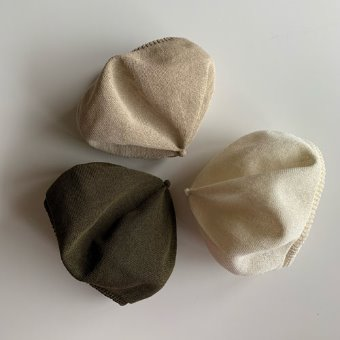 mature ha. beret top gather big silk(3color)