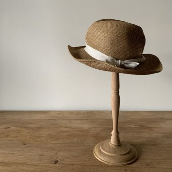 mature ha. boxd hat 7cm brim herringbone ribbon 재입고!