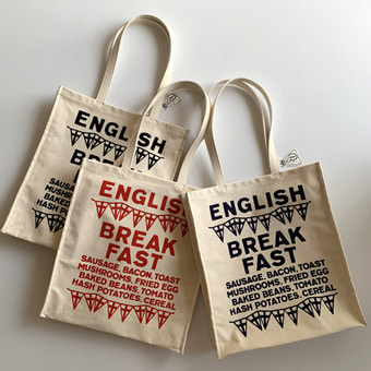 R&D.M.Co-  english break fast tote bag(30%)
