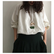 hand made necklace cherry(green) 재입고