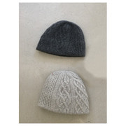 mature ha.slant cutting knit felt relief cap aran2 cashmere & lamb(2 color)
