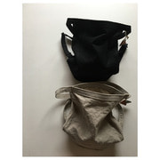 style craft linen bucket bag( 2 color)