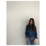 R&D.M.Co- greatmans typewriter shirt(navy)