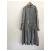 R&D.M.Co- linen box pleats dress(chambray)