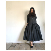 R&D.M.Co- linen top over shirt dress