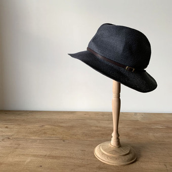 mature ha. boxd hat 6.5 brim leather belt