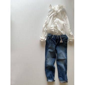 R&D.M.Co-  narrow straight denim pants(vintage like)
